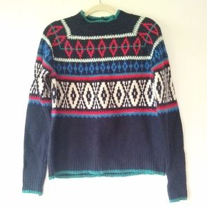 American Eagle • FairIsle Nordic cozy Sweater